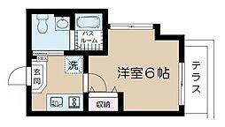JR総武線 小岩駅 徒歩8分の賃貸アパート 1階1Kの間取り