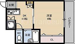 ジュネス都島[8階]の間取り