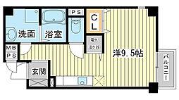 サクシード姫路駅南[405号室]の間取り