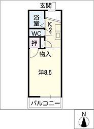 コーポOII[1階]の間取り