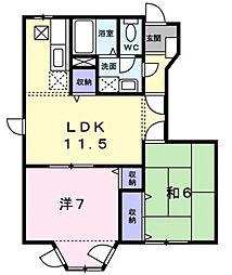 グラン・ソレイユB棟[1階]の間取り