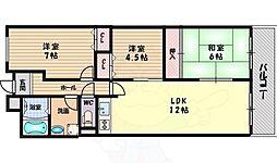 ラフィーネ高塚 6階3LDKの間取り