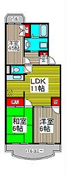 メゾンパークス武蔵野[1階]の間取り