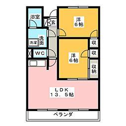 TORICO SQUARE[3階]の間取り