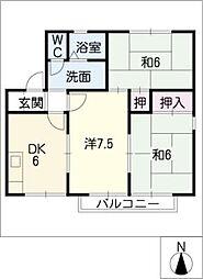 セジュール今斉[2階]の間取り