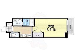 ファーストフィオーレ江坂レガリス 10階1Kの間取り