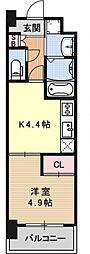アクアプレイス京都洛南II[C803号室号室]の間取り