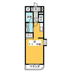 シャンベール浅井[1階]の間取り