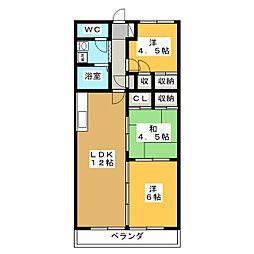クレストンマンションSII[4階]の間取り