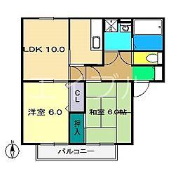 アムール B棟[1階]の間取り