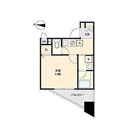 名古屋市営東山線 新栄町駅 徒歩10分の賃貸アパート 2階1Kの間取り