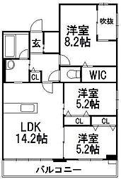 北海道札幌市中央区南十七条西12丁目の賃貸マンションの間取り