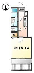 ブランメゾンII[105号室]の間取り
