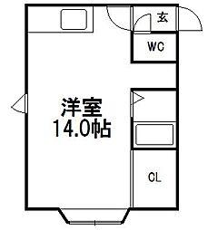サンホームマンション16番館[302号室]の間取り