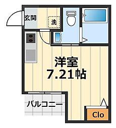 神奈川県横浜市瀬谷区瀬谷3丁目の賃貸アパートの間取り
