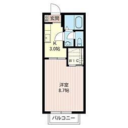 ハイツ サンフラワー[1階]の間取り