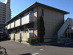茨城県水戸市新荘1丁目の賃貸アパートの外観