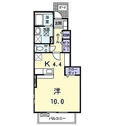 愛知県名古屋市中川区助光1丁目の賃貸アパートの間取り