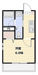 スカイアドレス[2階]の間取り