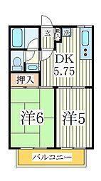 カーサオランジェ[1階]の間取り