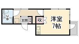 鶴之荘ハイツ[402号室]の間取り