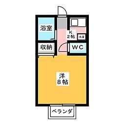 クレストK[2階]の間取り