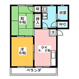 サークルハイツII[1階]の間取り