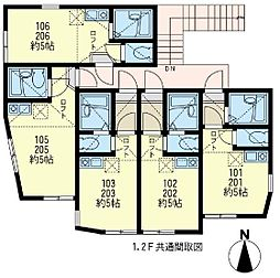 ユナイト 金沢八景ペドロ・ドミンゴ[2階]の間取り