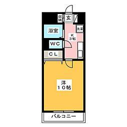 ウインコート佐野[5階]の間取り