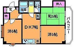 NAKAHARA VIP ROYAL[3階]の間取り