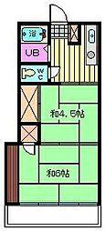 石栄コーポ[102号室]の間取り