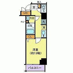 東京メトロ千代田線 赤坂駅 徒歩2分の賃貸マンション 2階1Kの間取り