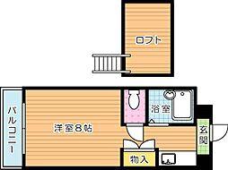 折尾自由ヶ丘センチュリー21[5階]の間取り