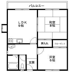 カザーク山木戸[2階]の間取り