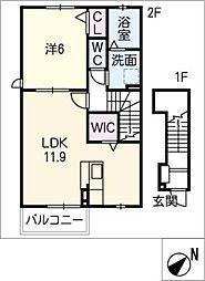 アイミルン C棟[2階]の間取り