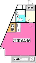 煉瓦館66[1階]の間取り