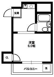 プチハイム[4階]の間取り