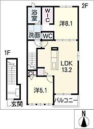 エトワール I[2階]の間取り