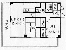 フォレスト柚須駅前[6階]の間取り