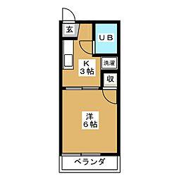 サンライズ小幡[2階]の間取り