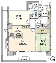 アーバンビュー城下[3階]の間取り