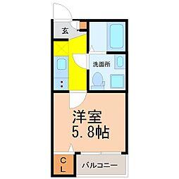 仮称)山田三丁目デザイナーズ[2階]の間取り