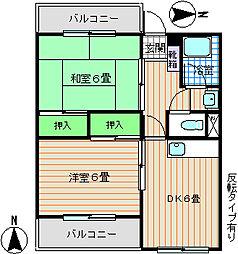 石丸マンション[2階]の間取り