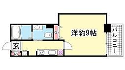 アルファレガロ神戸WEST[406号室]の間取り