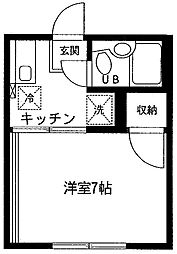 成瀬ハイツI[205号室]の間取り
