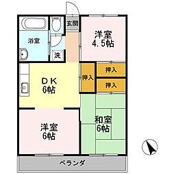 横内ビル[4階]の間取り