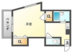 ソレイユ箱崎[5階]の間取り