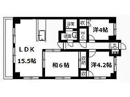 稲元ビル東伊場[5階]の間取り