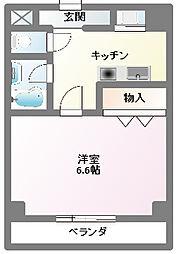 愛知県名古屋市名東区社台1丁目の賃貸アパートの間取り
