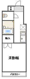 コンフォート武蔵浦和[102号室]の間取り